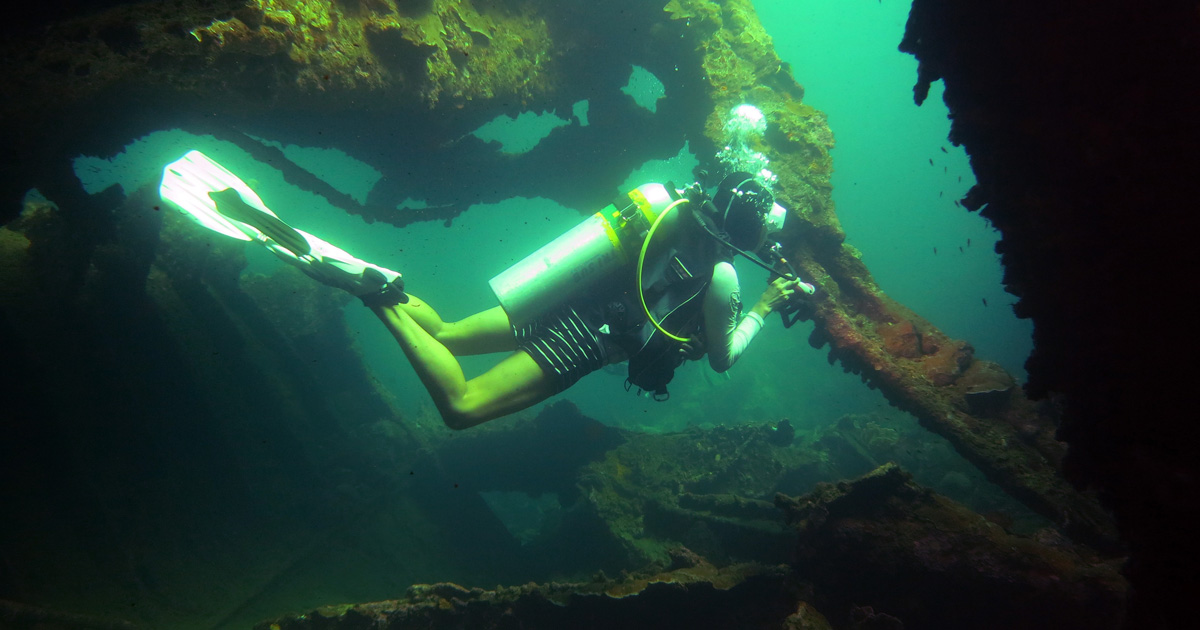 Wreck Diving Safety DAN AP Kashi Maru with Dive Munda Solomon Islands Diveplanit