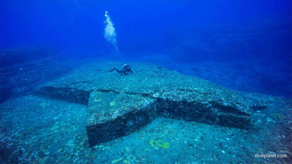 The Turtle platform at Yonaguni Monument diving Okinawa Japan Diveplanit
